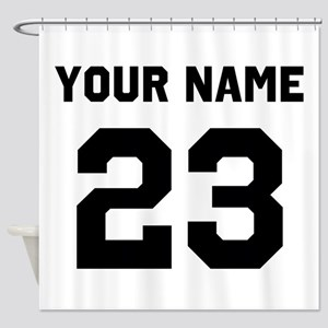 Customize sports jersey number Shower Curtain