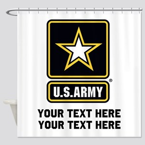 US Army Star Shower Curtain