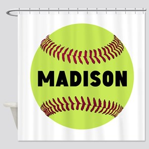 Softball Personalized Shower Curtain