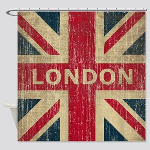 Vintage London Shower Curtain