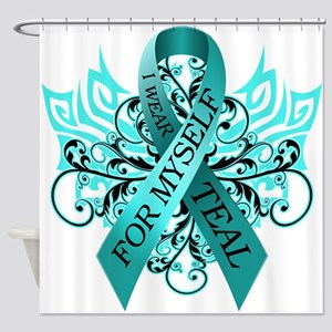 I Wear Teal for Myself Shower Curtain