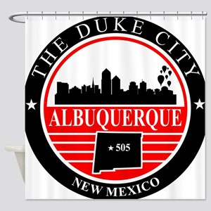 Albuquerque logo black and red Shower Curtain