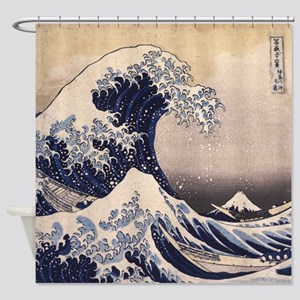 Great Wave by Hokusai Shower Curtain