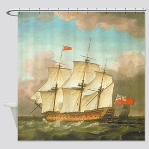 HMS Victory by Monamy Swaine Shower Curtain