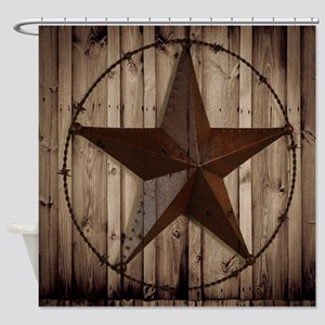 western texas star Shower Curtain