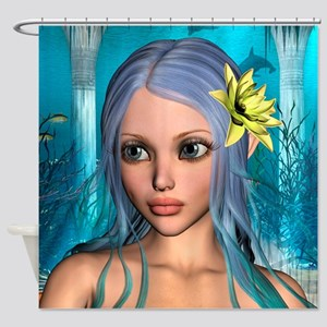 Ocean Mermaid Shower Curtain