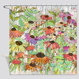 Floral Daisy Spring Shower Curtain