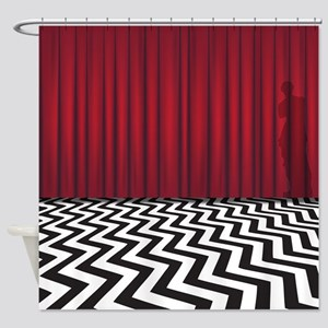 Black Lodge Waiting Room Shower Curtain
