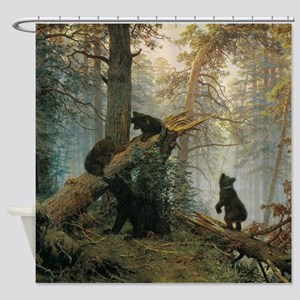 Ivan Shishkin Morning In A Pine For Shower Curtain