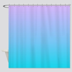 purple turquoise ombre Shower Curtain