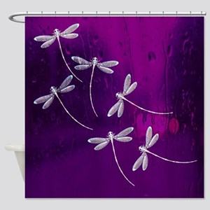 Dragonflies on water Shower Curtain