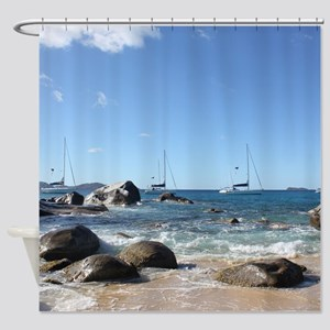 BVI Sailing Boats Shower Curtain