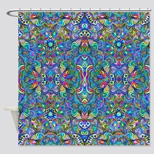 Colorful Abstract Psychedelic Symme Shower Curtain