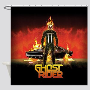 Ghost Rider Car Shower Curtain