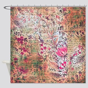 Old paper texture Shower Curtain