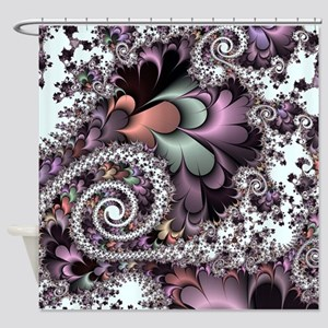 Sufi Whirl Fractal Shower Curtain
