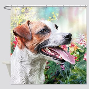 Jack Russell Terrier Painting Shower Curtain