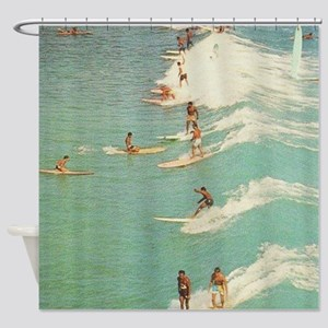 Awesome Surfing Shower Curtain