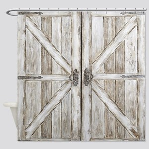 Distressed Barn Door White Gifts Cafepress