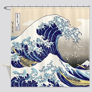 Hokusai The Great Wave Shower Curtain