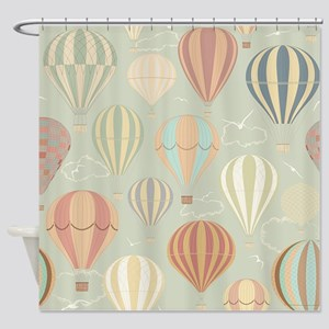 Hot Air Ballooning Shower Curtains