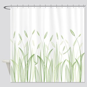 Delicate Grasses Shower Curtain