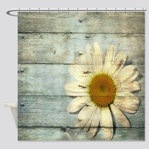 shabby chic country daisy Shower Curtain