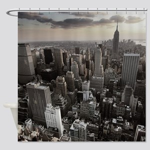 New York Skyscraper Vintage Shower Curtain