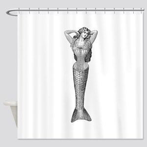 Victorian Mermaid Shower Curtain