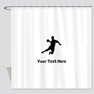 Dodgeball Player Silhouette Shower Curtain