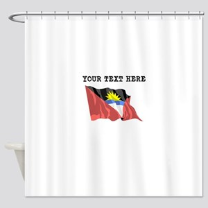 Custom Antigua Flag Shower Curtain