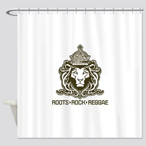 roots rock reggae qr2 Shower Curtain