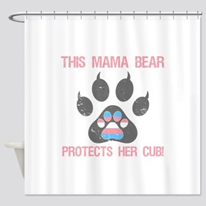 Transgender Pride For Moms Shower Curtain