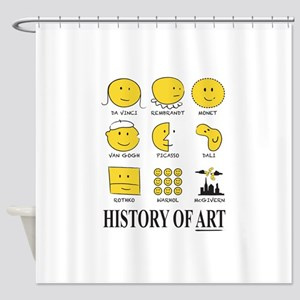 History of Art by Smiley Shower Curtain