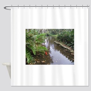 OLD FLORIDA FISH POND Shower Curtain