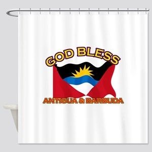 Patriotic Antigua & Barbuda designs Shower Curtain