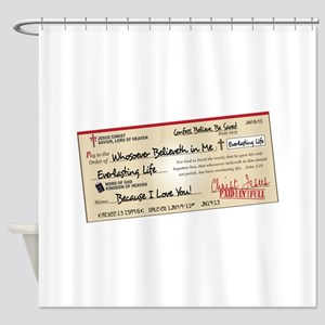 Christian Shower Curtains - CafePress on world map tote bag, world map light fixture, world map linen, world map wallpaper, world map shoes, world map window valance, world map sheets, world map clock, world map wall mural, world map toothbrush holder, world map mirror, world map home decor, world map bed, world map with flags, world map tumbler, world map drapes, world map dishes, world map tablecloth, world map placemat, world map mercator projection,
