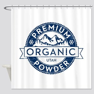 Organic Utah Powder Shower Curtain