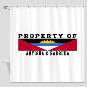 Property Of Antigua and Barbuda Shower Curtain