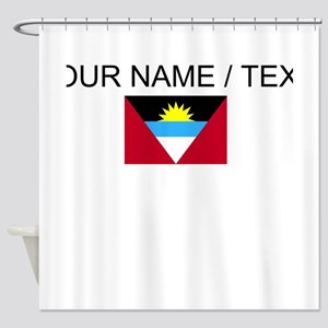 Custom Antigua and Barbuda Flag Shower Curtain