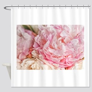 Blooming pink peonies 2 Shower Curtain