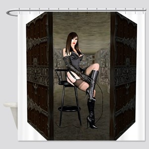 Dungeon Door Mistress Shower Curtain
