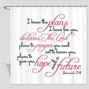 Jeremiah 29:11 Design Shower Curtain