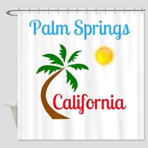 Palm Springs California Palm Tree a Shower Curtain