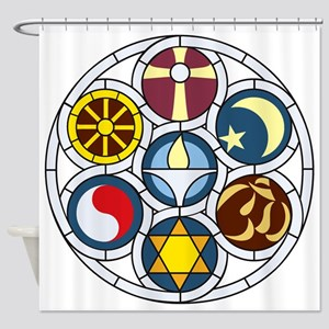 The UU Church Rockford Rehnberg Shower Curtain