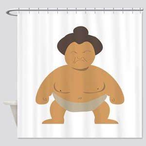 Sumo Wrestler Shower Curtain