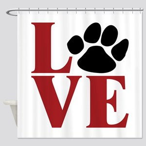 Love Paw Shower Curtain