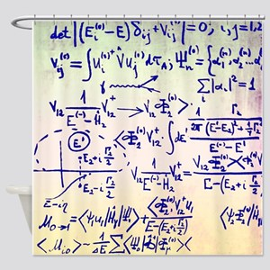 Particle physics equations - Shower Curtain