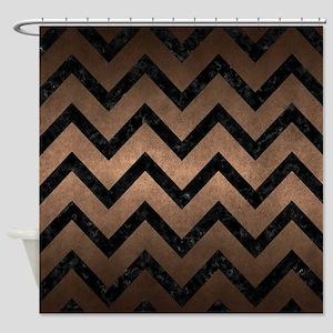 Dark Brown Chevron Shower Curtains Cafepress