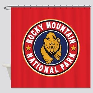 Rocky Mountain Red Circle Shower Curtain